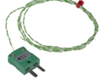 Termocupla tip K, diametru sonda 1/0.2mm, lungime cablu 1m, terminatie tip priza