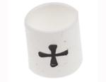 Marcatoare cabluri pre-tiparite cu +, albe, diametru cablu 1 - 3mm, rezistente la foc si lichide